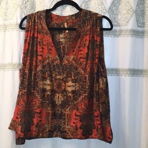 Free people will flowy shifty blouse